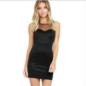 Lulus Sparkler Rhinestone Illusions Dress